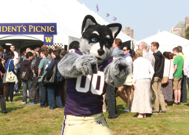 Harry the Husky at President's Picnic