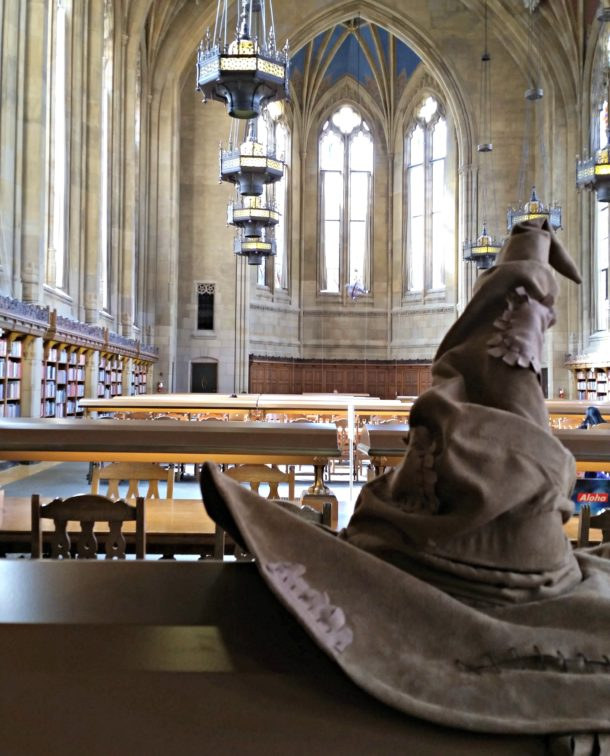 Sorting hat in the Reading Room